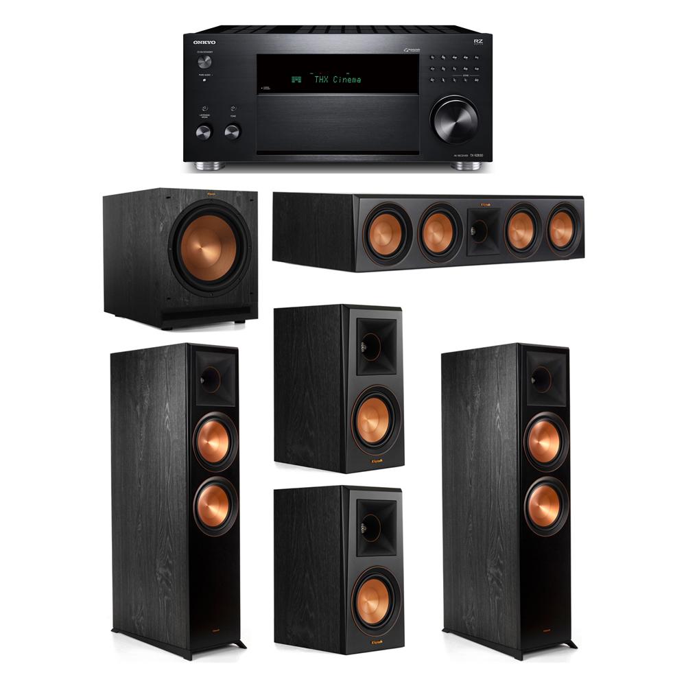 Klipsch 5.1 System with 2 RP-8000F,  1 RP-504C, 2 RP-500M, 1 SPL-120, 1 Onkyo TX-RZ830 Receiver