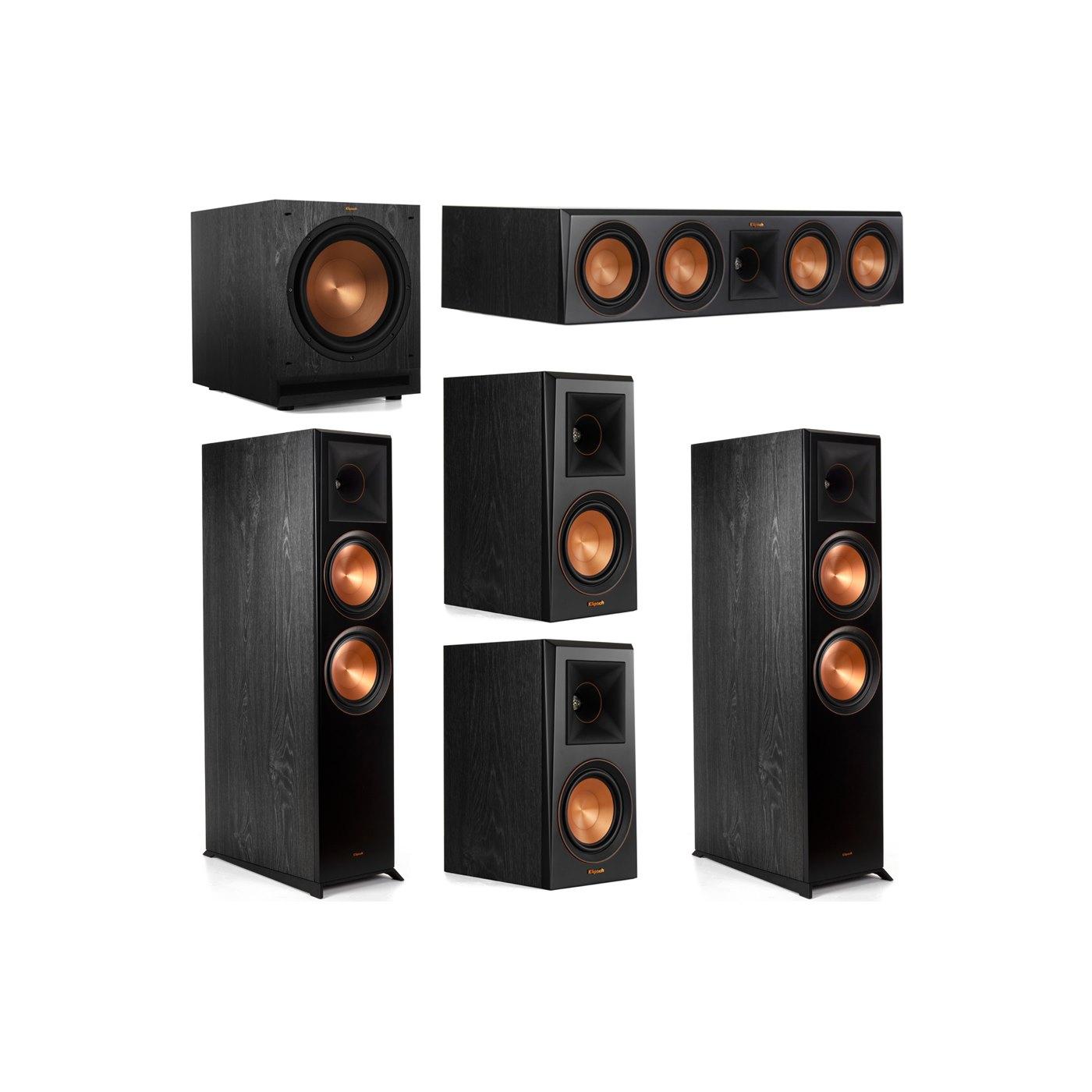 Klipsch 5.1 System with 2 RP-8000F Floorstanding Speakers, 1 Klipsch RP-504C Center Speaker, 2 Klipsch RP-500M Surround Speakers, 1 Klipsch SPL-120 Subwoofer