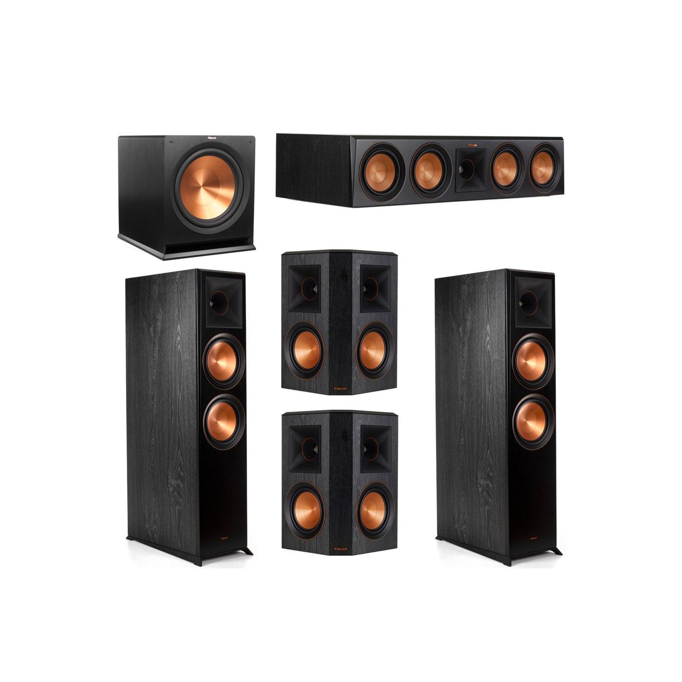 Klipsch 5.1 System with 2 RP-8000F Floorstanding Speakers, 1 Klipsch RP-504C Center Speaker, 2 Klipsch RP-502S Surround Speakers, 1 Klipsch R-115SW Subwoofer