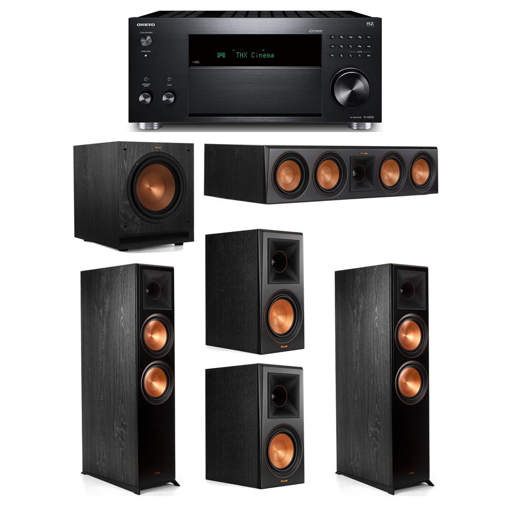 Klipsch 5.1 System with 2 RP-8000F,  1 RP-504C, 2 RP-600M, 1 SPL-100, 1 Onkyo TX-RZ830 Receiver