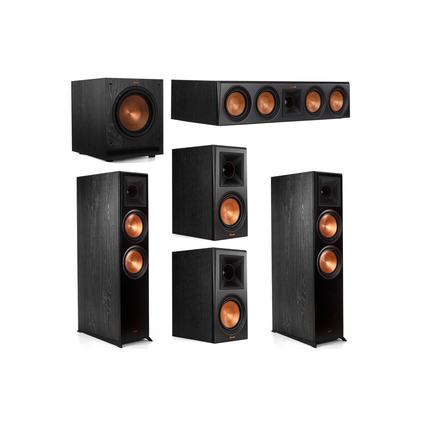 Klipsch 5.1 System with 2 RP-8000F Floorstanding Speakers, 1 Klipsch RP-504C Center Speaker, 2 Klipsch RP-600M Surround Speakers, 1 Klipsch SPL-100 Subwoofer