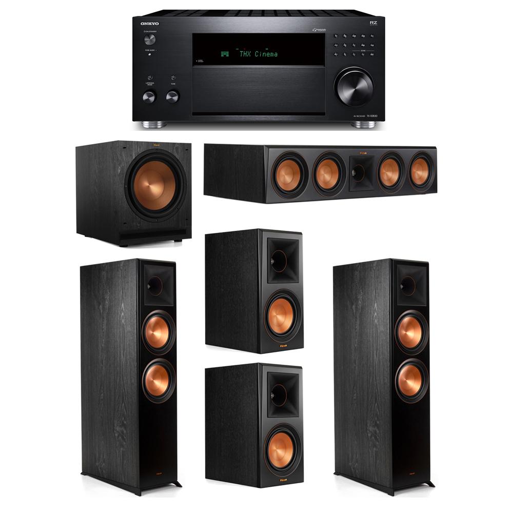 Klipsch 5.1 System with 2 RP-8000F,  1 RP-504C, 2 RP-600M, 1 SPL-120, 1 Onkyo TX-RZ830 Receiver