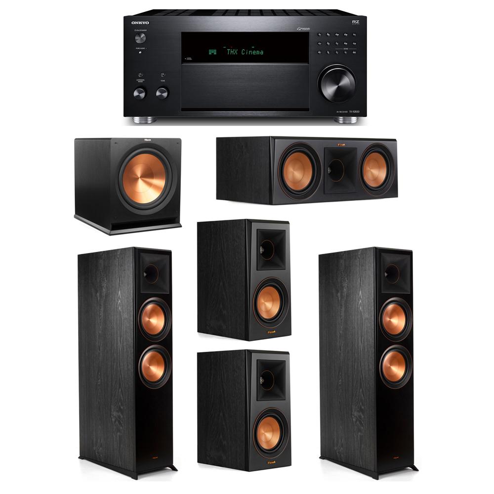 Klipsch 5.1 System with 2 RP-8000F, 1 RP-600C, 2 RP-500M, 1 R-115SW,  1 Onkyo TX-RZ830 Receiver