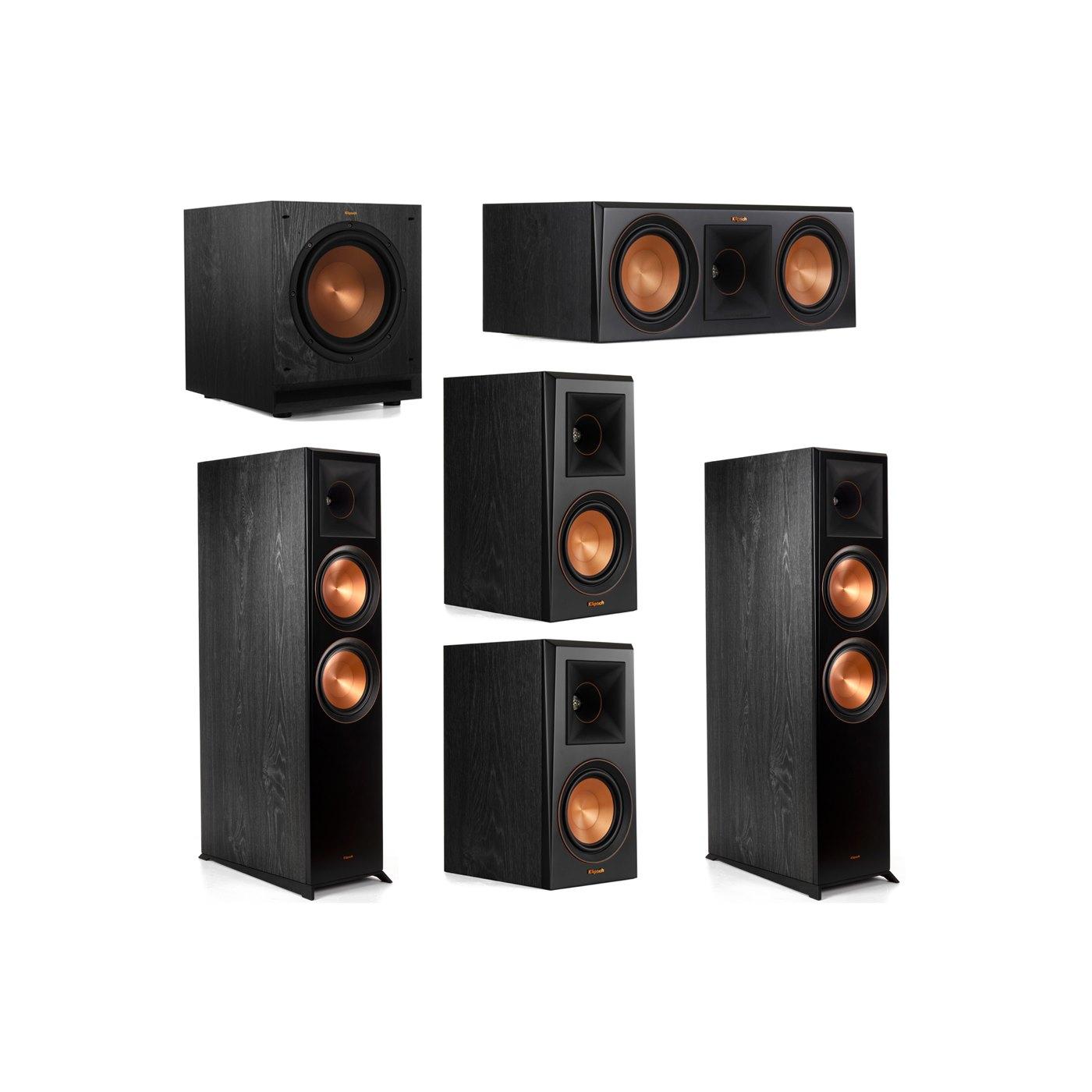 Klipsch 5.1 System with 2 RP-8000F Floorstanding Speakers, 1 Klipsch RP-600C Center Speaker, 2 Klipsch RP-500M Surround Speakers, 1 Klipsch SPL-100 Subwoofer