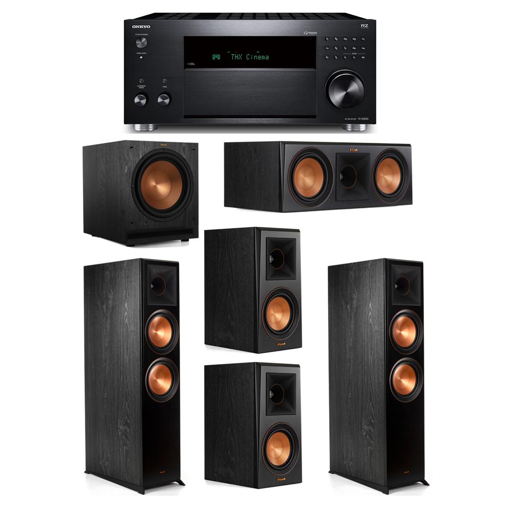 Klipsch 5.1 System with 2 RP-8000F, 1 RP-600C, 2 RP-500M, 1 SPL-120, 1 Onkyo TX-RZ830 Receiver