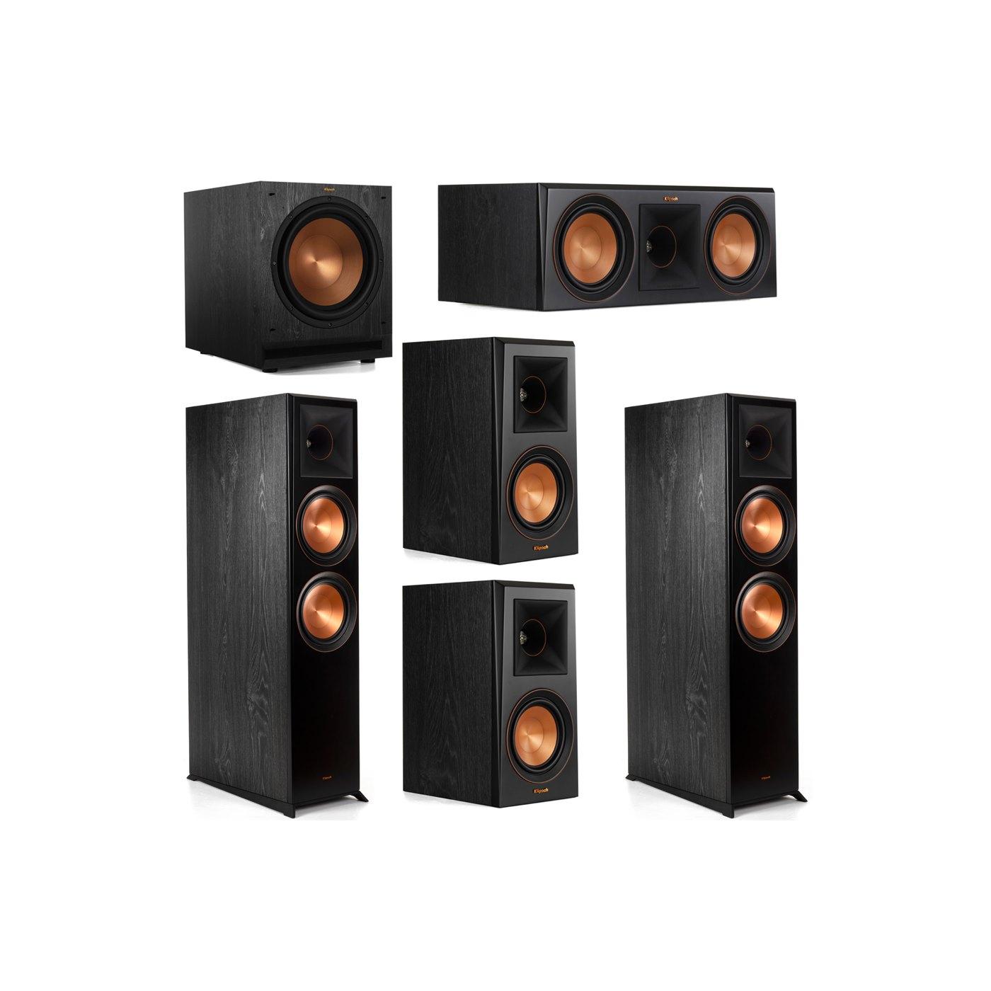 Klipsch 5.1 System with 2 RP-8000F Floorstanding Speakers, 1 Klipsch RP-600C Center Speaker, 2 Klipsch RP-500M Surround Speakers, 1 Klipsch SPL-120 Subwoofer