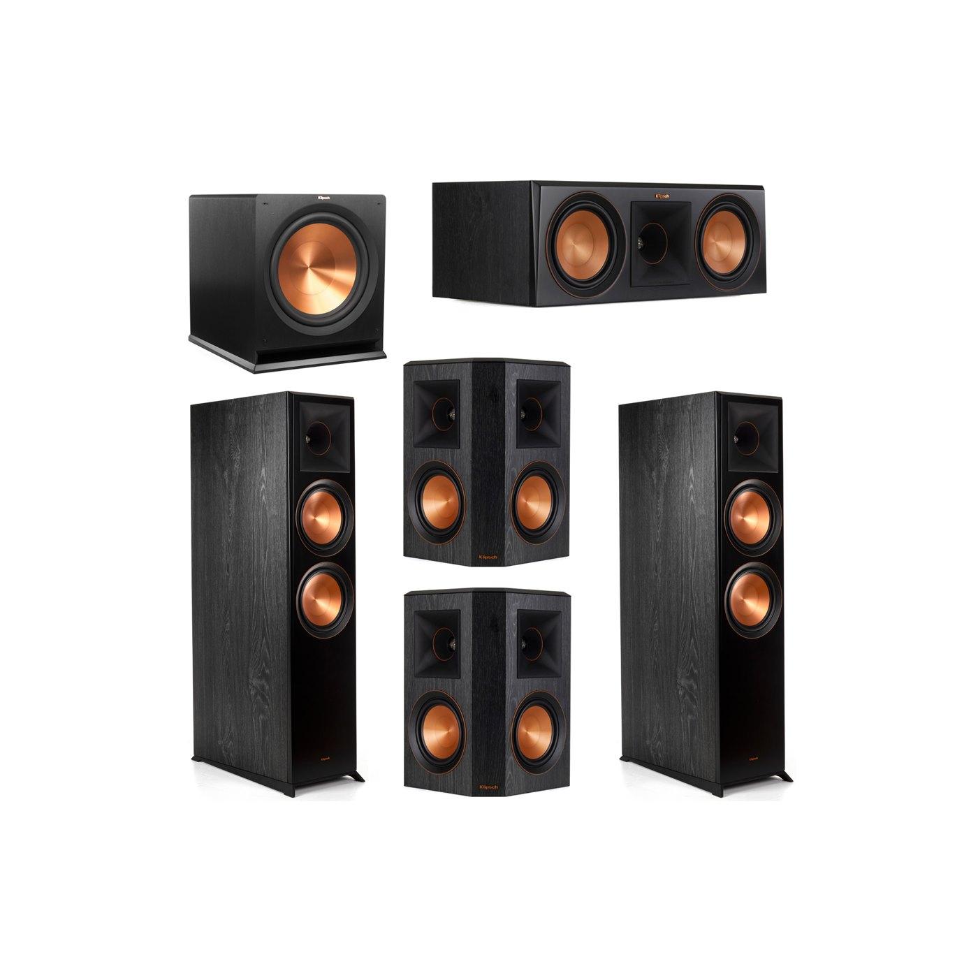 Klipsch 5.1 System with 2 RP-8000F Floorstanding Speakers, 1 Klipsch RP-600C Center Speaker, 2 Klipsch RP-502S Surround Speakers, 1 Klipsch R-115SW Subwoofer