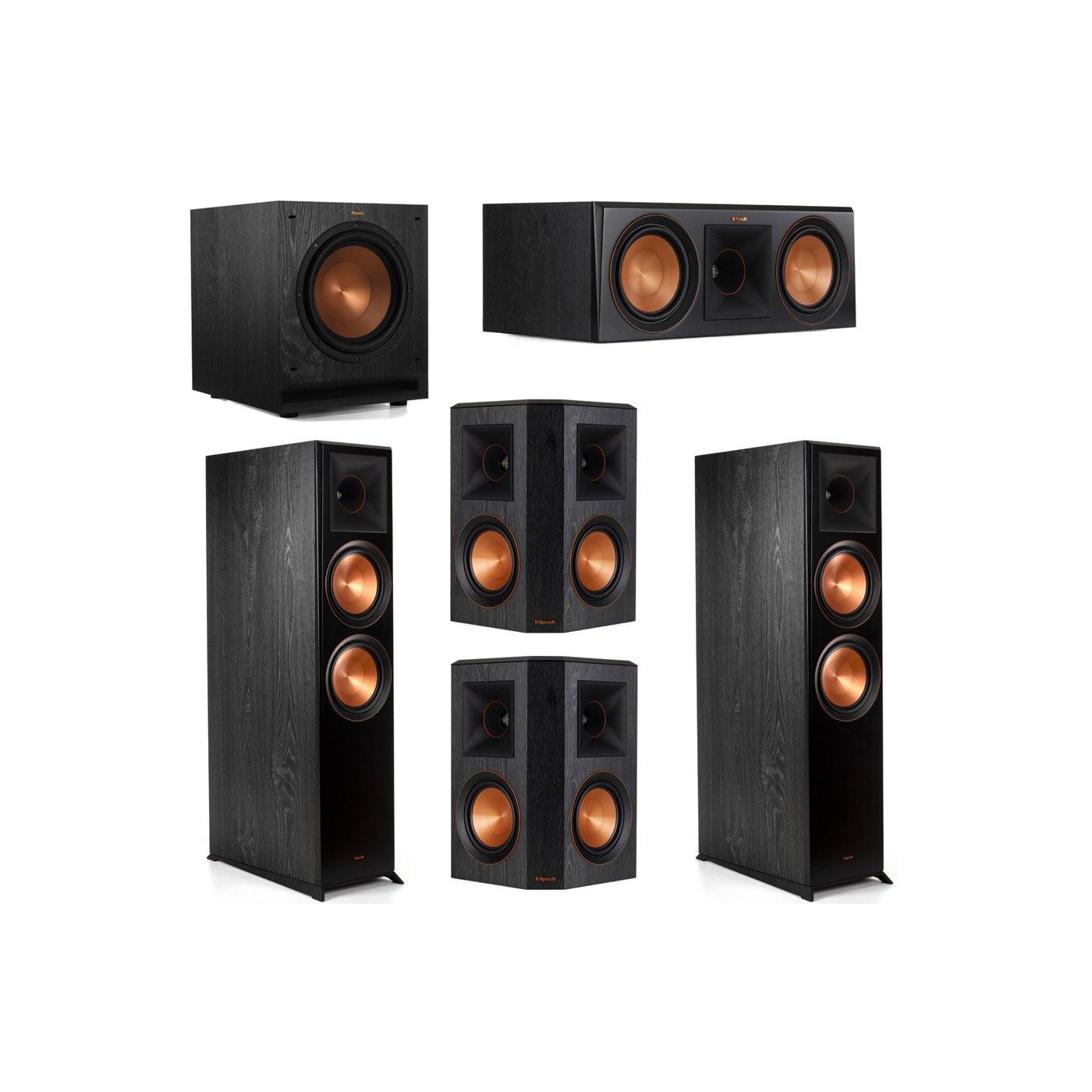 Klipsch 5.1 System with 2 RP-8000F Floorstanding Speakers, 1 Klipsch RP-600C Center Speaker, 2 Klipsch RP-502S Surround Speakers, 1 Klipsch SPL-100 Subwoofer