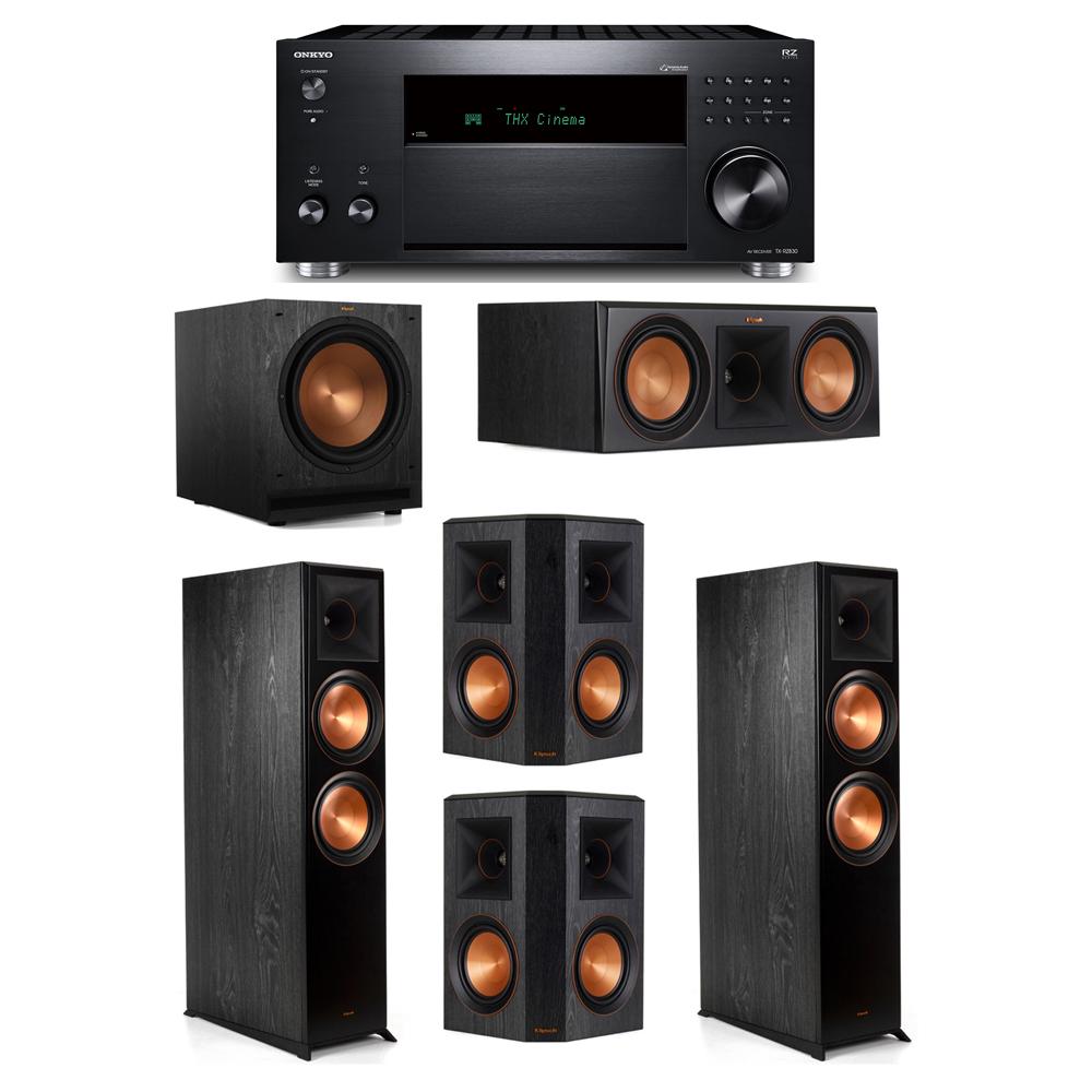 Klipsch 5.1 System with 2 RP-8000F, 1 RP-600C, 2 RP-502S, 1 SPL-120, 1 Onkyo TX-RZ830 Receiver