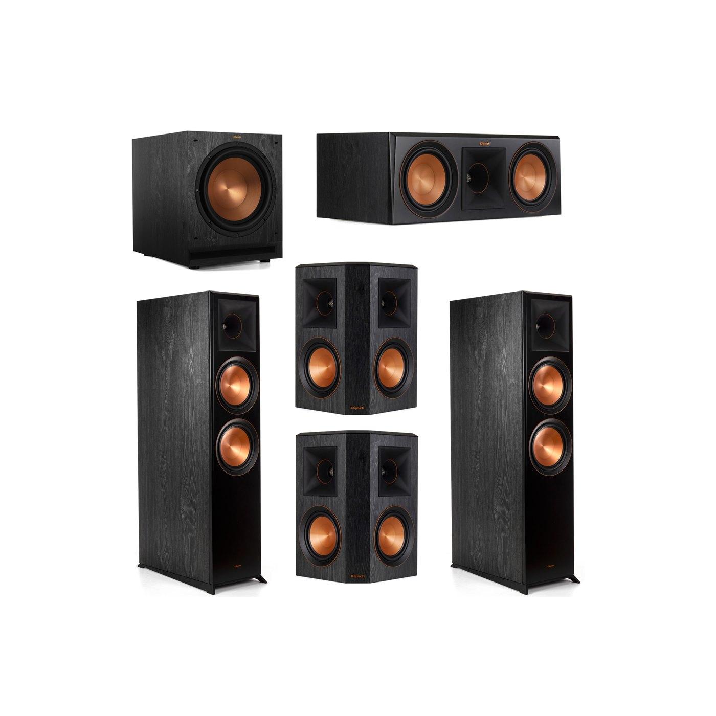 Klipsch 5.1 System with 2 RP-8000F Floorstanding Speakers, 1 Klipsch RP-600C Center Speaker, 2 Klipsch RP-502S Surround Speakers, 1 Klipsch SPL-120 Subwoofer