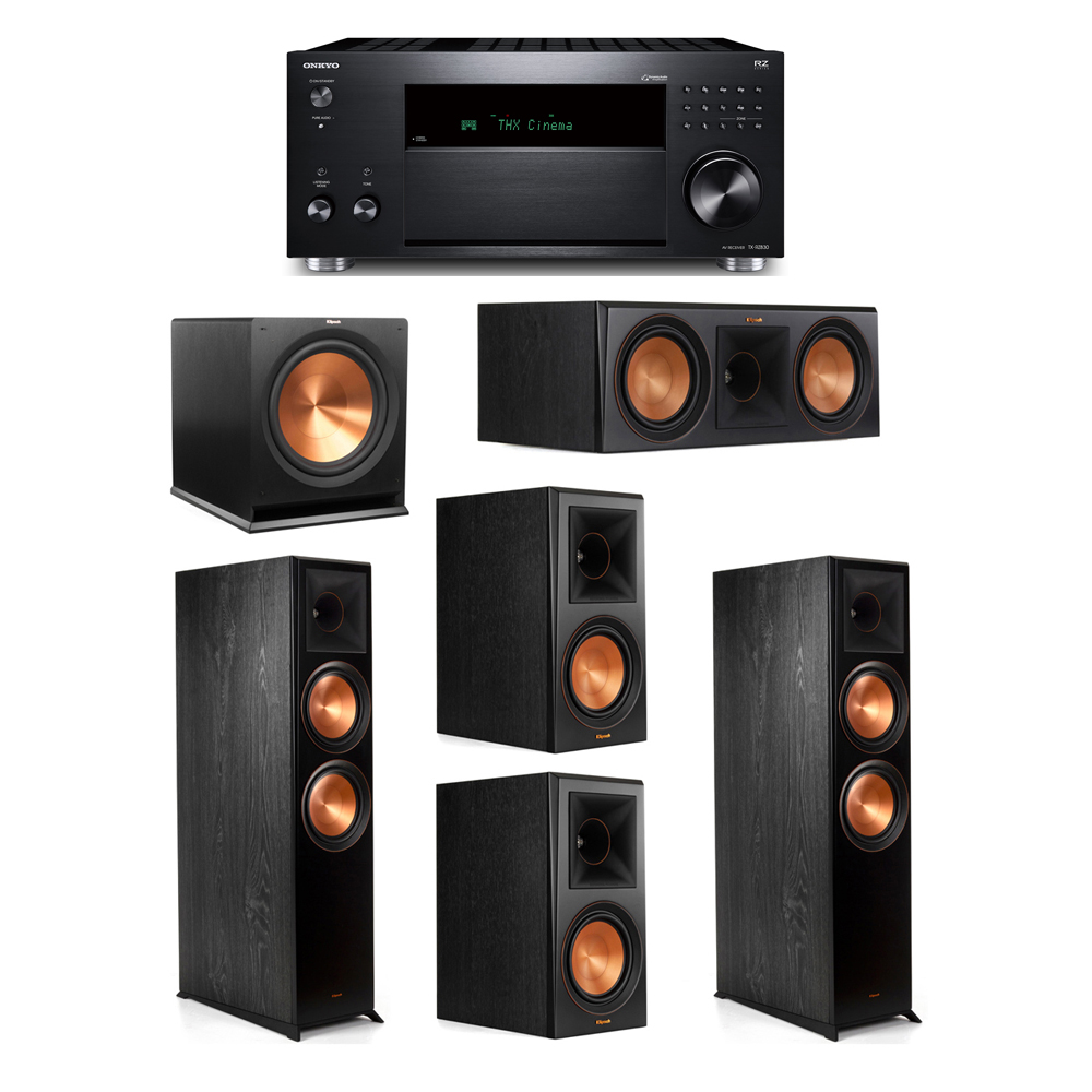 Klipsch 5.1 System with 2 RP-8000F, 1 RP-600C, 2 RP-600M, 1 R-115SW,  1 Onkyo TX-RZ830 Receiver