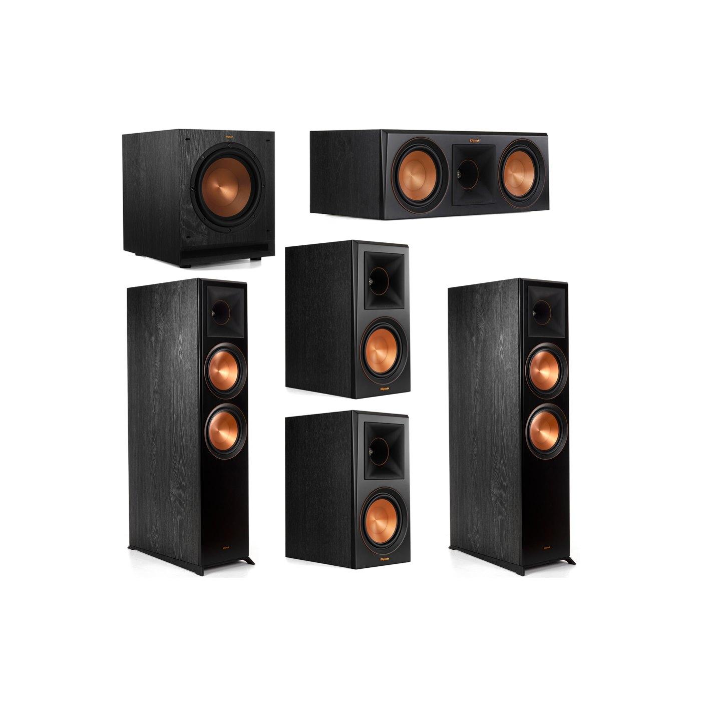 Klipsch 5.1 System with 2 RP-8000F Floorstanding Speakers, 1 Klipsch RP-600C Center Speaker, 2 Klipsch RP-600M Surround Speakers, 1 Klipsch SPL-100 Subwoofer