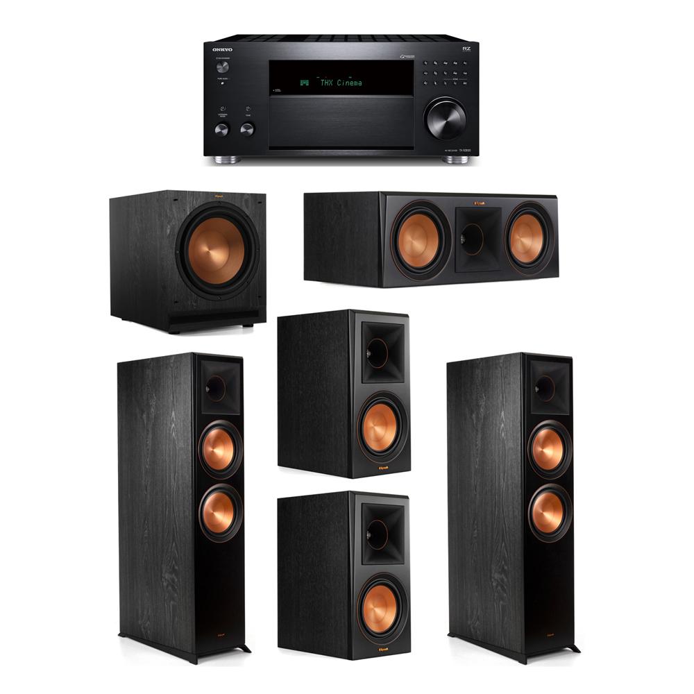 Klipsch 5.1 System with 2 RP-8000F, 1 RP-600C, 2 RP-600M, 1 SPL-120, 1 Onkyo TX-RZ830 Receiver