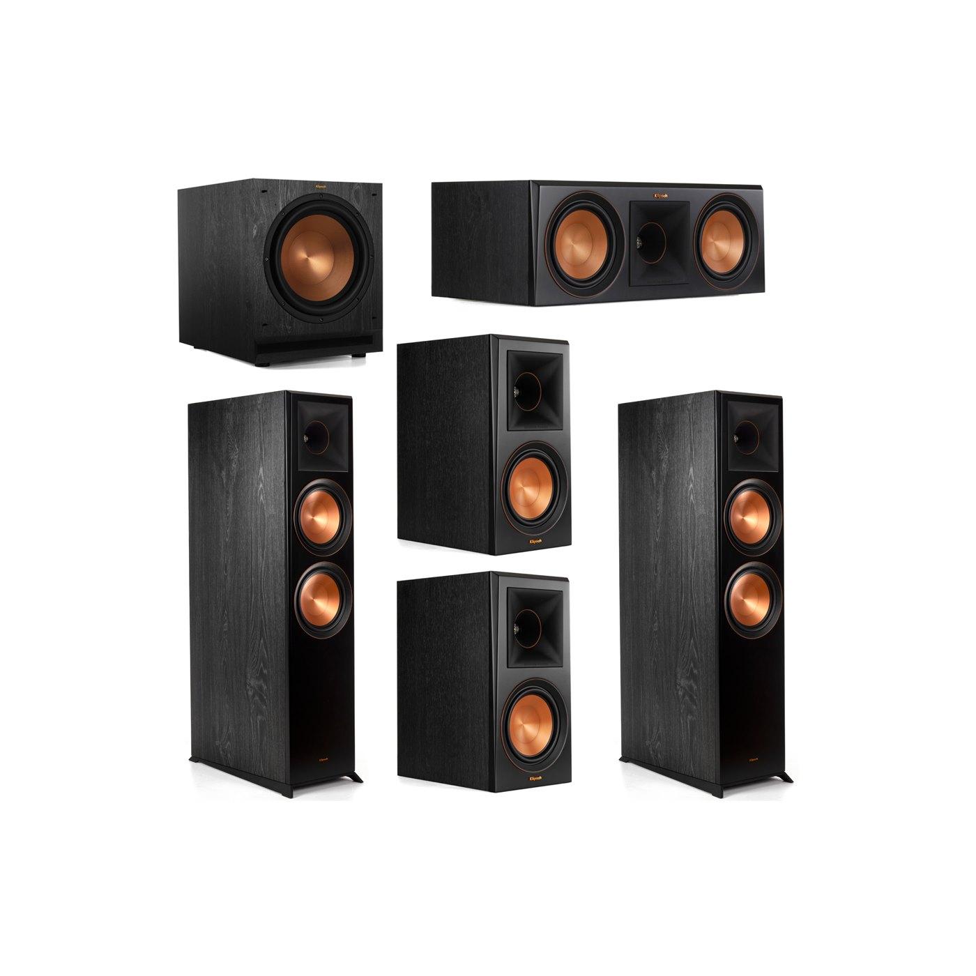 Klipsch 5.1 System with 2 RP-8000F Floorstanding Speakers, 1 Klipsch RP-600C Center Speaker, 2 Klipsch RP-600M Surround Speakers, 1 Klipsch SPL-120 Subwoofer