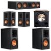 Klipsch 5.1 Ebony System with 2 RP600M, 1 RP504C, 2 RP502S, 1 PL-200II