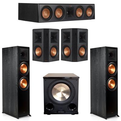 Klipsch 5.1 Ebony System with 2 RP8000F, 1 RP504C, 2 RP502S, 1 PL-200II