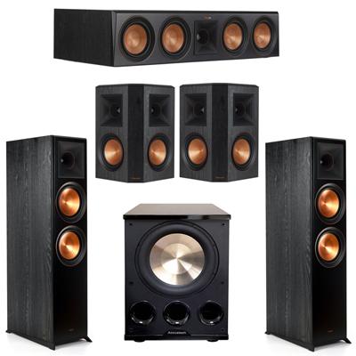 Klipsch 5.1 Ebony System with 2 RP8000F, 1 RP504C, 2 RP502S, 1 PL-300