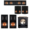 Klipsch 5.1 Piano Black System with 2 RP-600M, 1 RP-404C, 2 RP-502S, 1 PL-200II