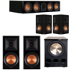 Klipsch 5.1 Piano Black System with 2 RP-600M, 1 RP-504C, 2 RP-502S, 1 PL-300