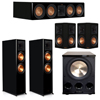 Klipsch 5.1 Piano Black System with 2 RP-8060FA, 1 RP-504C, 2 RP-502S, 1 PL-300