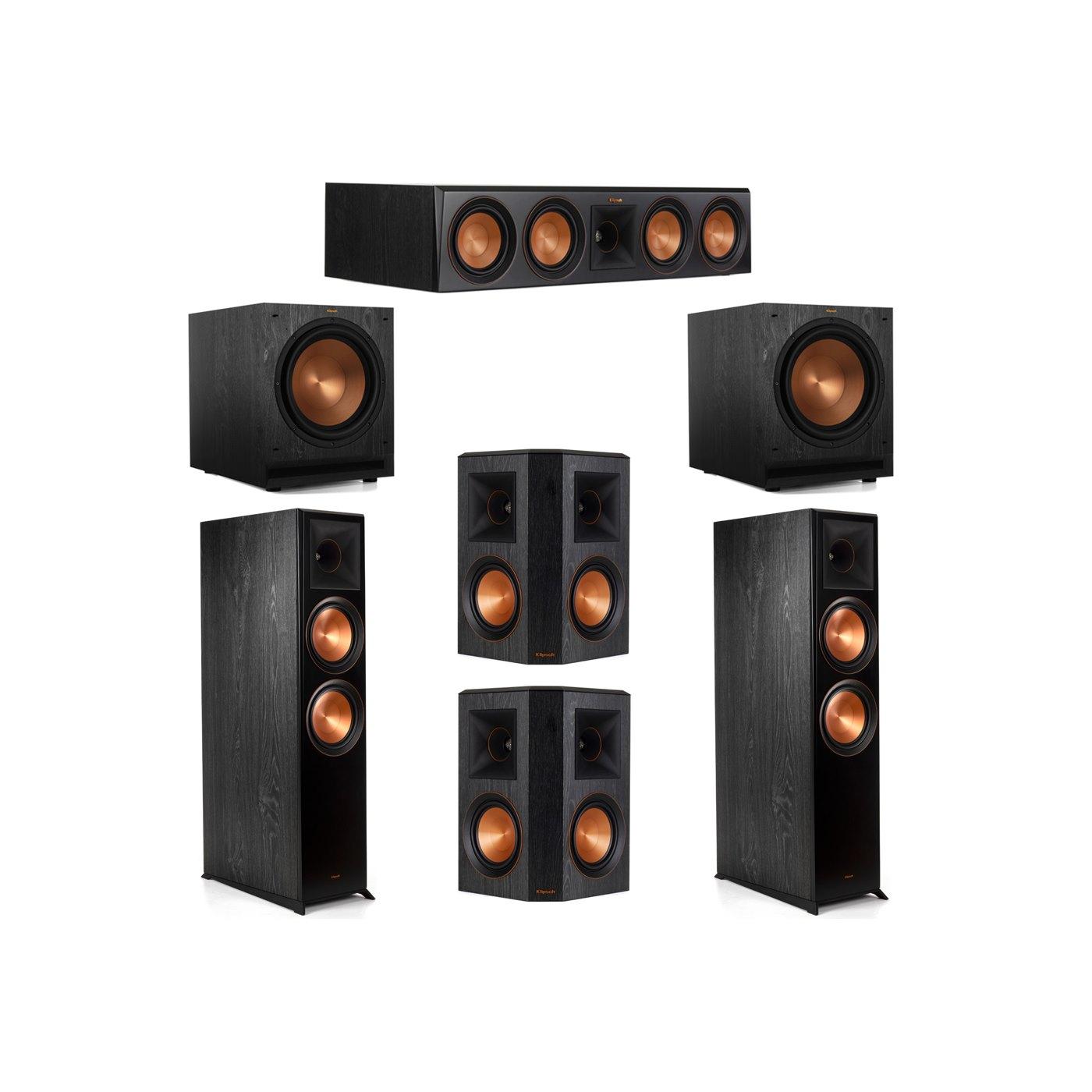 Klipsch 5.2 System with 2 RP-8000F Floorstanding Speakers, 1 Klipsch RP-504C Center Speaker, 2 Klipsch RP-502S Surround Speakers, 2 Klipsch SPL-120 Subwoofers