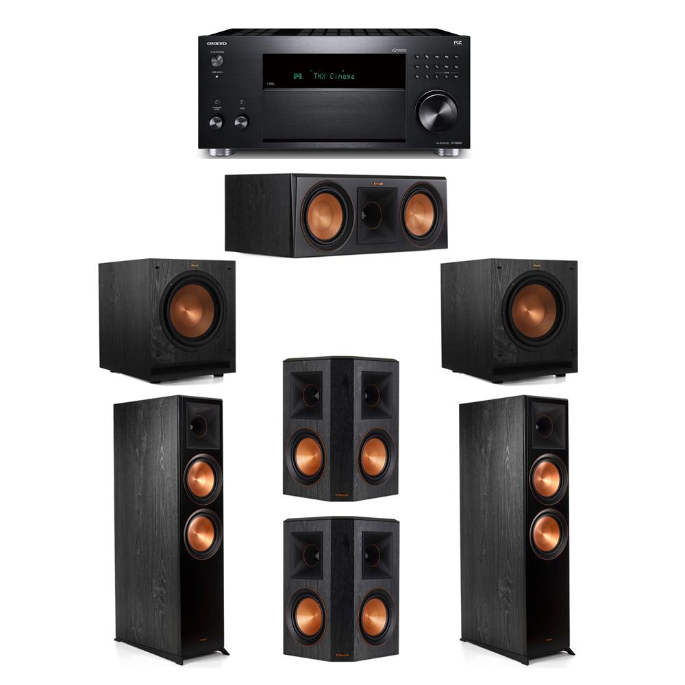 Klipsch 5.2 System with 2 RP-8000F, 1 RP-600C, 2 RP-502S, 2 SPL-100, 1 Onkyo TX-RZ830 Receiver