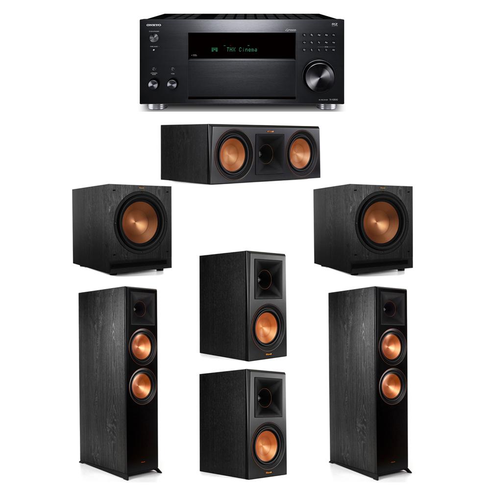 Klipsch 5.2 System with 2 RP-8000F, 1 RP-600C, 2 RP-600M, 2 SPL-120, 1 Onkyo TX-RZ830 Receiver