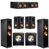 Klipsch 5.2 Ebony System - 2 RP-8000F, 1 RP-504C, 2 RP-502S, 2 PL-200II