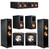 Klipsch 5.2 Ebony System - 2 RP-8000F, 1 RP-504C, 2 RP-600M, 2 PL-200II