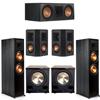 Klipsch 5.2 Ebony System - 2 RP-8000F, 1 RP-600C, 2 RP-402S, 2 PL-200II