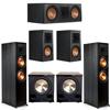 Klipsch 5.2 Ebony System - 2 RP-8000F, 1 RP-600C, 2 RP-500M, 2 PL-200II