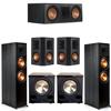 Klipsch 5.2 Ebony System - 2 RP-8000F, 1 RP-600C, 2 RP-502S, 2 PL-200II