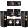 Klipsch 5.2 Ebony System - 2 RP-8000F, 1 RP-600C, 2 RP-600M, 2 PL-200II