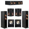 Klipsch 5.2 Ebony System - 2 RP-5000F, 1 RP-404C, 2 RP-402S, 2 PL-300