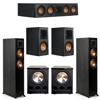 Klipsch 5.2 Ebony System - 2 RP-5000F, 1 RP-404C, 2 RP-500M, 2 PL-300