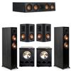 Klipsch 5.2 Ebony System - 2 RP-5000F, 1 RP-404C, 2 RP-502S, 2 PL-300
