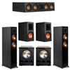 Klipsch 5.2 Ebony System - 2 RP-5000F, 1 RP-404C, 2 RP-600M, 2 PL-300