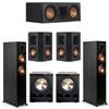 Klipsch 5.2 Ebony System - 2 RP-5000F, 1 RP-500C, 2 RP-402S, 2 PL-300