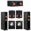 Klipsch 5.2 Ebony System - 2 RP-5000F, 1 RP-500C, 2 RP-502S, 2 PL-300