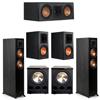 Klipsch 5.2 Ebony System - 2 RP-5000F, 1 RP-500C, 2 RP-600M, 2 PL-300