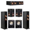 Klipsch 5.2 Ebony System - 2 RP-5000F, 1 RP-504C, 2 RP-402S, 2 PL-300
