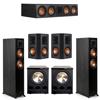 Klipsch 5.2 Ebony System - 2 RP-5000F, 1 RP-504C, 2 RP-502S, 2 PL-300