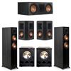 Klipsch 5.2 Ebony System - 2 RP-5000F, 1 RP-600C, 2 RP-402S, 2 PL-300