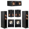 Klipsch 5.2 Ebony System - 2 RP-5000F, 1 RP-600C, 2 RP-502S, 2 PL-300