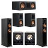 Klipsch 5.2 Ebony System - 2 RP-5000F, 1 RP-600C, 2 RP-600M, 2 PL-300