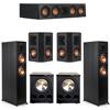 Klipsch 5.2 Ebony System - 2 RP-6000F, 1 RP-404C, 2 RP-402S, 2 PL-300