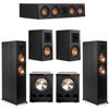 Klipsch 5.2 Ebony System - 2 RP-6000F, 1 RP-404C, 2 RP-500M, 2 PL-300