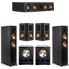 Klipsch 5.2 Ebony System - 2 RP-6000F, 1 RP-404C, 2 RP-502S, 2 PL-300