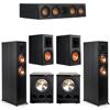 Klipsch 5.2 Ebony System - 2 RP-6000F, 1 RP-404C, 2 RP-600M, 2 PL-300