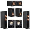 Klipsch 5.2 Ebony System - 2 RP-6000F, 1 RP-500C, 2 RP-500M, 2 PL-300